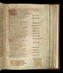Psalm 1 with English Verse Translation, in a Psalter
